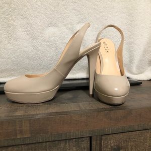 Guess Patent Nude Heels